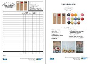 Beställningsformulär till ljusförsäljningen