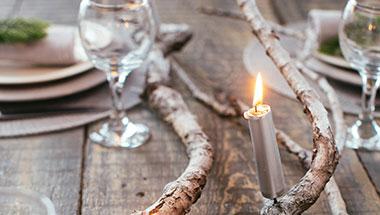 Ljus till nyårsfesten i silver