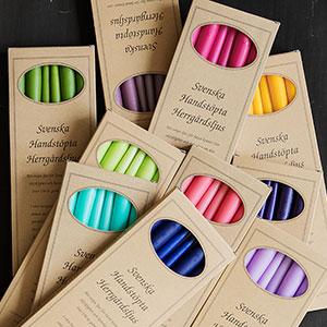Svenska handstöpta Herrgårdsljus i attraktiva presentförpackningar